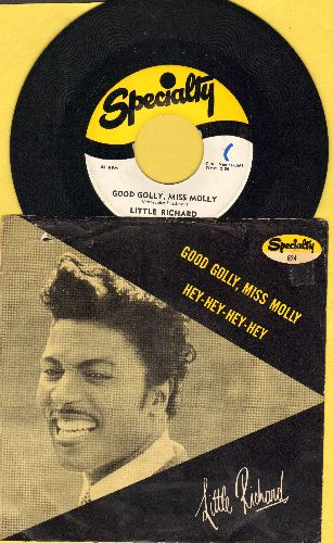 Little Richard - Good Golly, Miss Molly/Hey-Hey-Hey-Hey (first issue with RARE picture sleeve) - NM9/VG7 - 45 rpm Records