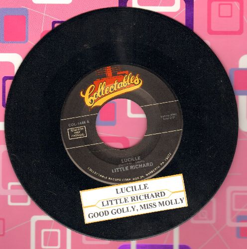 Little Richard - Good Golly, Miss Molly/Lucille (double-hit re-issue with juke box label) - NM9/ - 45 rpm Records