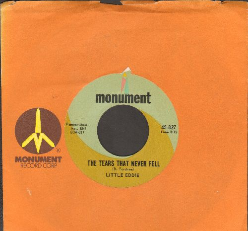 Little Eddie - The Tears That Never Fell/Cozy Inn (with vintage Monument company sleeve) - NM9/ - 45 rpm Records