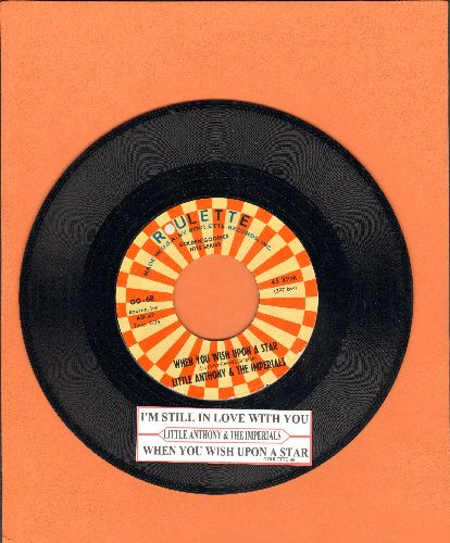 Little Anthony & The Imperials - When You Wish Upon A Star/Wishful Thinking (authentic-looking double-hit re-issue with juke box label) - NM9/ - 45 rpm Records
