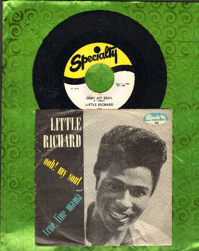 Little Richard - Ooh! My Soul/True, Fine Mama (first pressing with RARE picture sleeve, wos) - NM9/VG7 - 45 rpm Records