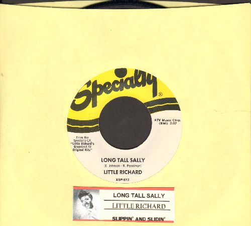 Little Richard - Long Tall Sally/Slippin' And Slidin' (authentic-looking re-issue with juke box label) - NM9/ - 45 rpm Records