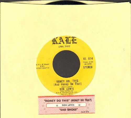Lewis, Don - Honey Do This (Honey Do That)/Sad Shoes (RARE Ohio Country two-sider with juke box label) - NM9/ - 45 rpm Records