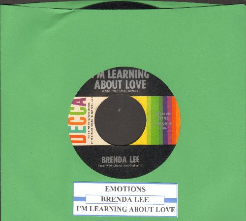 Lee, Brenda - Emotions/I'm Learnin' About Love (with juke box label) - EX8/ - 45 rpm Records
