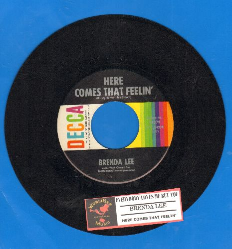 Lee, Brenda - Everybody Loves Me But You/Here Comes That Feelin' (FANTASTIC Overlooked flip-side!) (with juke box label) - NM9/ - 45 rpm Records