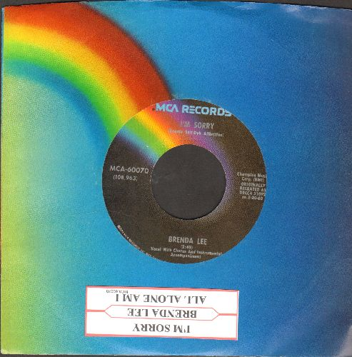 Lee, Brenda - I'm Sorry/All Alone Am I (re-issue) - NM9/ - 45 rpm Records
