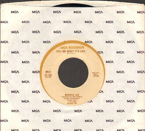 Lee, Brenda - Tell Me What It's Like/Let Your Love Fall Back On Me (with MCA company sleeve) - NM9/ - 45 rpm Records