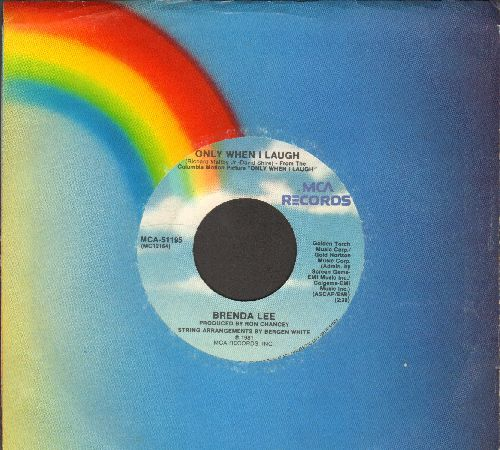 Lee, Brenda - Only When I Laugh/Too Many Nights Alone (with MCA company sleeve) - EX8/ - 45 rpm Records