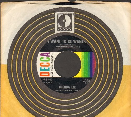 Lee, Brenda - I Want To Be Wanted (Per tutta la vita)/Just A Little (with Decca company sleeve) - EX8/ - 45 rpm Records
