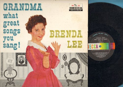 Lee, Brenda - Grandma What Great Songs You Sang: Pennies From Heaven, Baby Face, Ballin' The Jack, Pretty Baby, Side By Side, St. Louis Blues (Vinyl MONO LP record) - EX8/EX8 - LP Records