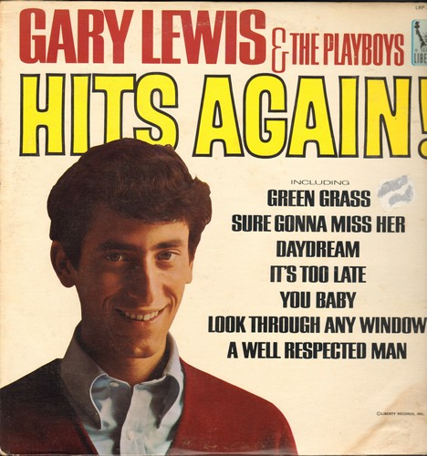 Lewis, Gary & The Playboys - Hits Again!: Daydream, Sure Gonna Miss Her, Green Grass, You Baby (Vinyl MONO LP record) - VG7/VG7 - LP Records