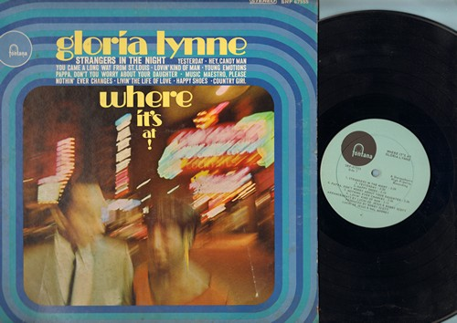 Lynne, Gloria - Where It's At!: Strangers In The Night, Yesterday, Young Emotions, Happy Shoes (Vinyl STEREO LP record) - EX8/EX8 - LP Records