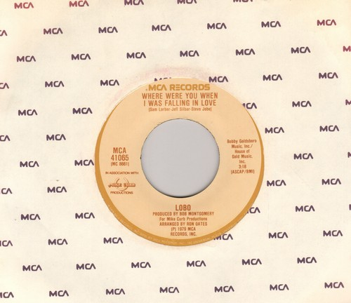 Lobo - Where Were You When I Was Falling In Love/I Don't Wanna Make Love Anymore - NM9/ - 45 rpm Records