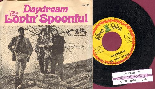 Lovin' Spoonful - Daydream/Night Owl Blues (with juke box label and picture sleeve) - EX8/VG7 - 45 rpm Records