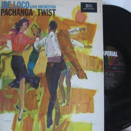 Loco, Joe & His Orchestra - Pachanga Twist: Taffy Twist, Splish-Splash, The Edge Of The Sea, Curtain Time, Pachanga Tweest #2 (Vinyl MONO LP record) - NM9/EX8 - LP Records
