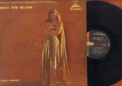 London, Julie - About The Blues: Basin Street Blues, Blues In The Night, Meaning Of The Blues (vinyl STEREO LP record) - EX8/VG7 - LP Records