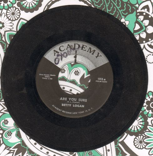 Logan, Betty - Teen Age Party/Are You Sure  - VG7/ - 45 rpm Records