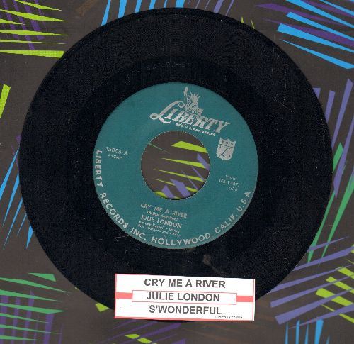 London, Julie - Cry Me A River/S'wonderful (with juke box label) - NM9/ - 45 rpm Records