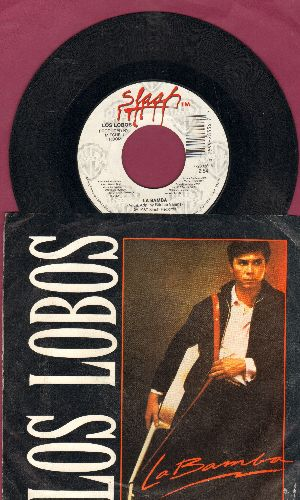 Los Lobos - La Bamba/Charlena (with picture sleeve) - NM9/EX8 - 45 rpm Records