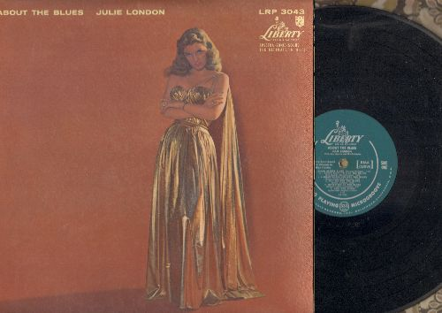 London, Julie - About The Blues: Basin Street Blues, Blues In The Night, Meaning Of The Blues (vinyl MONO LP record, green label first pressing) - VG7/EX8 - LP Records