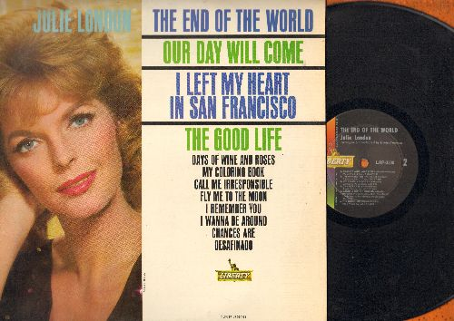 London, Julie - The End Of The World: Our Day Will Come, I Left My Heart In San Francisco, Fly Me To The Moon, Chances Are, My Coloring Book (Vinyl MONO LP record) - EX8/EX8 - LP Records