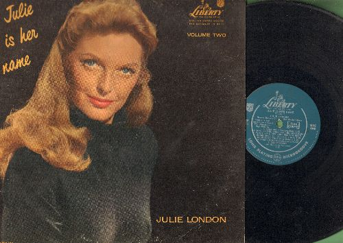 London, Julie - Julie Is Her Name Vol. 2: Blue Moon, Goody Goody, Hot Toddy, I Got Lost In His Arms (Vinyl MONO LP record, BEAUTIFUL COVER ART! - taped cover split) - VG7/VG6 - LP Records