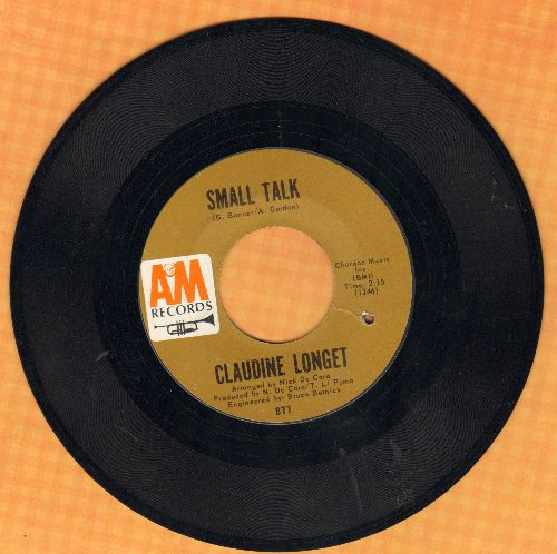 Longet, Claudine - Small Talk/Man In A Raincoat (bb) - VG7/ - 45 rpm Records