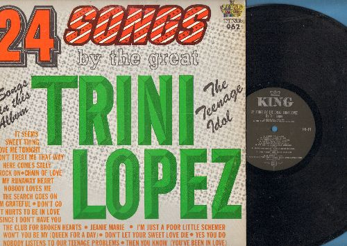 Lopez, Trini - 24 Songs By The Great Trini Lopez: Jeanie Marie, Since I Don't Have You, It Hurts To Be In Love, Love Me Tonight (vinyl MONO LP record) - NM9/EX8 - LP Records