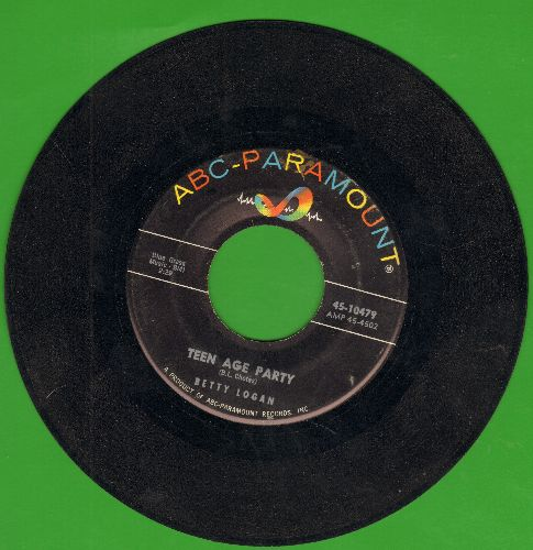 Logan, Betty - Teen Age Party/Are You Sure  - VG6/ - 45 rpm Records
