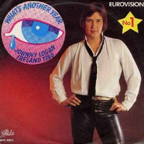 Logan, Johnny - What's Another Year/One Night Stand (WINNER Grand Prix D'Eurovision 1980 - German Pressing with picture sleeve) - NM9/EX8 - 45 rpm Records