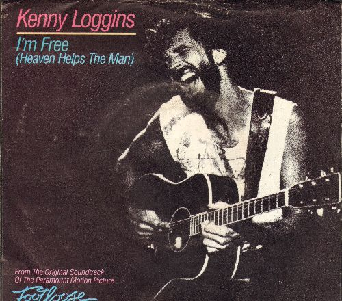 Loggins, Kenny - I'm Free (Heaven Helps The Man)/Welcome To Heartlight (with picture sleeve) - NM9/VG7 - 45 rpm Records