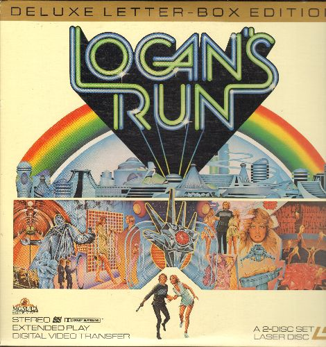 Logan's Run - Logan's Run - Deluxe Letter Box Edition, 2 Laser Discs in gate-fold cover (These are LASER DISCS, not any other kind of media!) - NM9/NM9 - Laser Discs