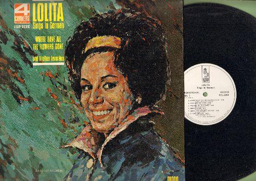 Lolita - Lolita Sings In German: Sag mir wo die Bluemn sind, Uber alle sieben Meere, Traume von der Heimat, Silberne Moeve (vinyl LP record, US Pressing, sung in German, DJ advance pressing) - NM9/EX8 - LP Records