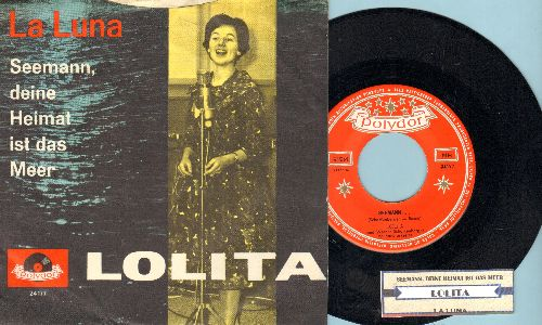 Lolita - Seemann/La Luna (Danish Pressing with juke box label and picture sleeve) - NM9/EX8 - 45 rpm Records