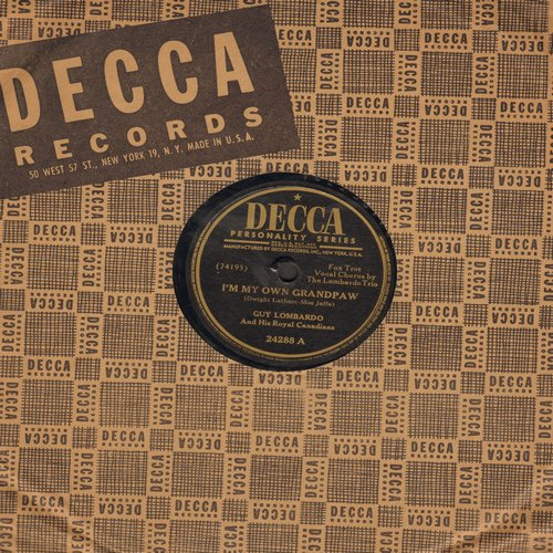Lombardo, Guy & His Royal Canadians - I'm My Own Grandpaw/Frankie And Johnny (10 inch 78rpm record with Decca company sleeve) - VG7/ - 78 rpm