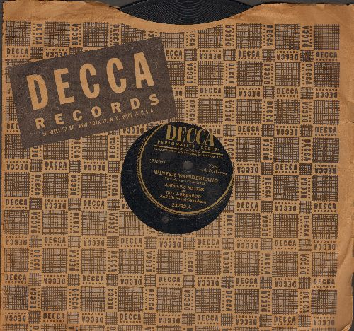 Andrews Sisters - Winter Wonderland/Christmas Island (10 inch 78rpm record with Decca company sleeve) - EX8/ - 45 rpm Records