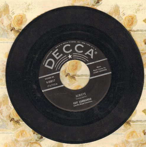 Lombardo, Guy - Always (vocal version)/Easter Parade (early 1950s pressing - VG7/ - 45 rpm Records