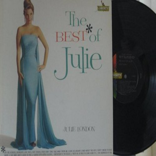 London, Julie - The Best Of Julie: Cry Me A River, Mad About The Boy, Daddy, Cuddle Up A Little Closer, Invitation To The Blues, You'd Be Nice To Come Home To, The Nearness Of You (Vinyl STEREO LP record, NICE condition!) - EX8/VG7 - LP Records