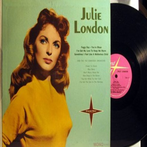 London, Julie - Julie London: How Deep Is The Ocean, Blue Skies, Cheek To Cheek, I've Got The Sun In The Morning (Vinyl MONO LP record) - M10/NM9 - LP Records