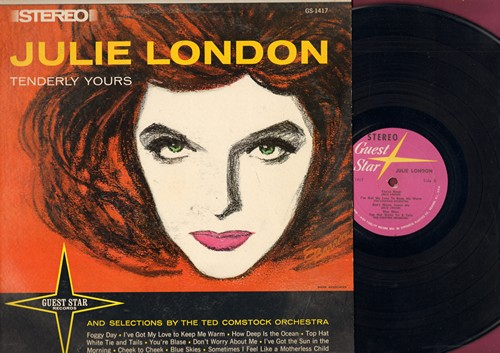 London, Julie - Tenderly Yours: Cheek To Cheek, How Deep Is The Ocean, Blue Skies, I've Got My Love To Keep Me Warm (Vinyl STEREO LP record) - EX8/EX8 - LP Records