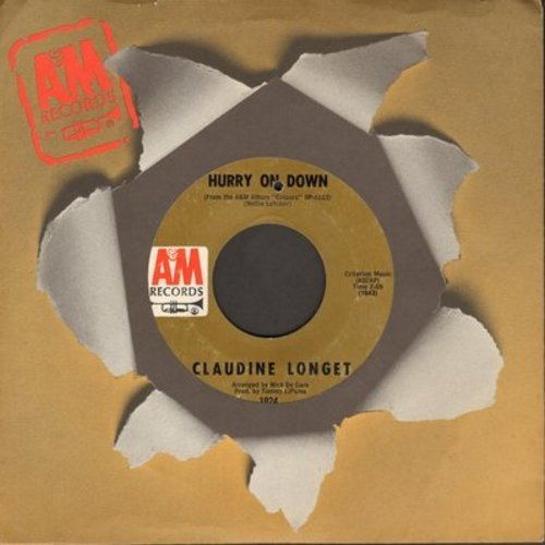 Longet, Claudine - Hurry On Down/I Think It's Gonna Rain Today (with A&M company sleeve) (bb) - EX8/ - 45 rpm Records