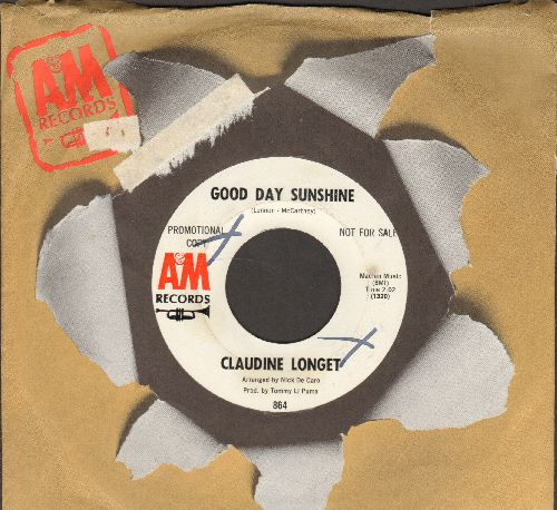 Longet, Claudine - Good Day Sunshine/The Look Of Love (DJ advance pressing with A&M company sleeve) - NM9/ - 45 rpm Records
