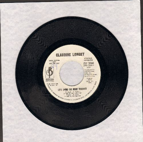 Longet, Claudine - Let's Spend The Night Together (DJ advance pressing with 3:53 minute STEREO and 3:30 minute MONO version) - M10/ - 45 rpm Records