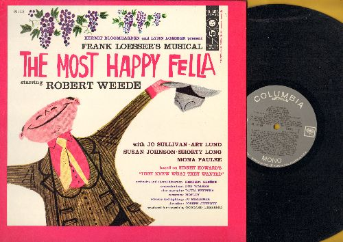 Most Happy Fella - The Most Happy Fella - Frank Losser's Musical starring Robert Weede. Includes the hit Standing On The Corner (Vinyl MONO LP record) - NM9/NM9 - LP Records