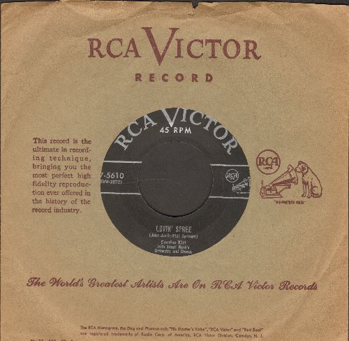 Kitt, Eartha - Lovin' Spree/Somebady Bad Stole De Wedding Bell (with original company sleeve) - EX8/ - 45 rpm Records