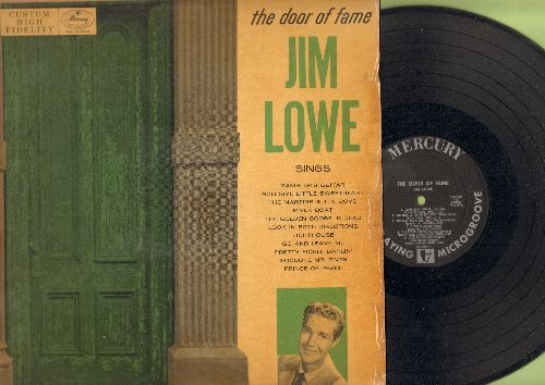 Lowe, Jim - The Door Of Fame:River Boat, Gambler's Guitar, Pretty Fickle Darlin', Goodbye Mr. River, Look In Both Directions (Vinyl MONO LP record) - EX8/VG7 - LP Records
