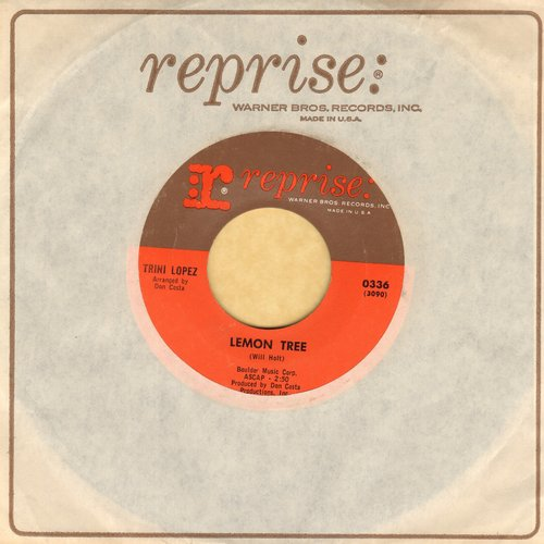 Lopez, Trini - Lemon Tree/Pretty Eyes (MINT condition with Reprise company sleeve) - M10/ - 45 rpm Records