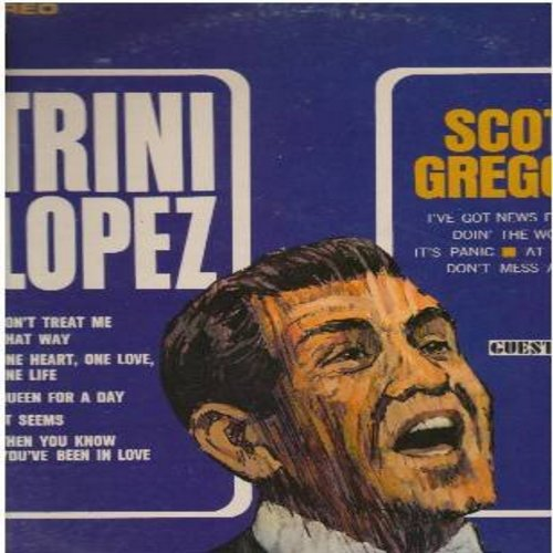 Lopez, Trini, Scott Gregory - Trini Lopez/Scott Gregory: Doin' The Wobble, Queen For A Day, I've Got News For Hugh, Don't Treat Me That Way (Vinyl STEREO LP record) - EX8/EX8 - LP Records