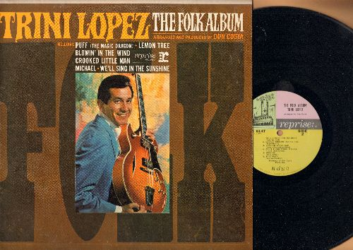 Lopez, Trini - The Folk Album: Puff (The Magic Dragon), Lemon Tree, Blowin' In The Wind, We'll Sing In The Sunshine, Greenback Dollar (vinyl MONO LP record) - NM9/EX8 - LP Records