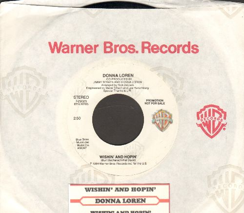 Loren, Donna - Wishin' And Hopin' (double-A-sided DJ advance pressing with juke box label and Warner Brothers company sleeve) - EX8/ - 45 rpm Records